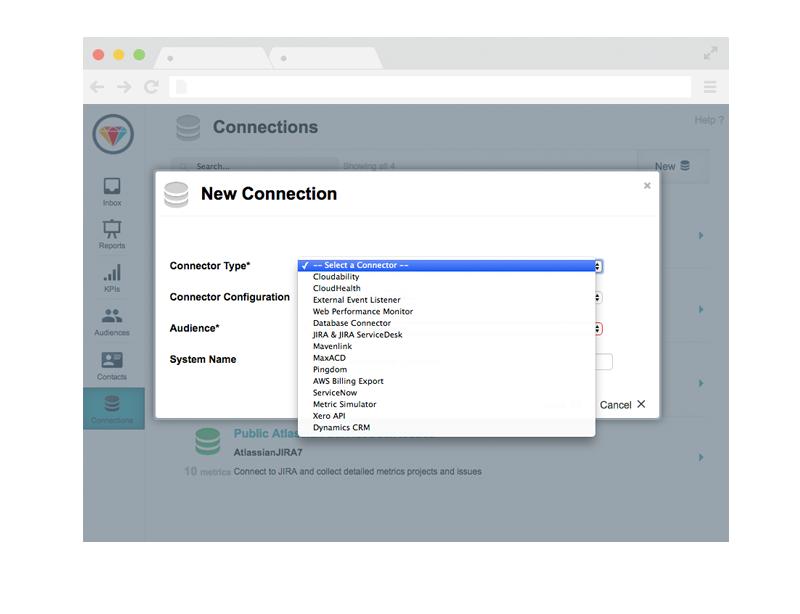 Infrastructure & Operartions Dashboard - Cloud Connectors